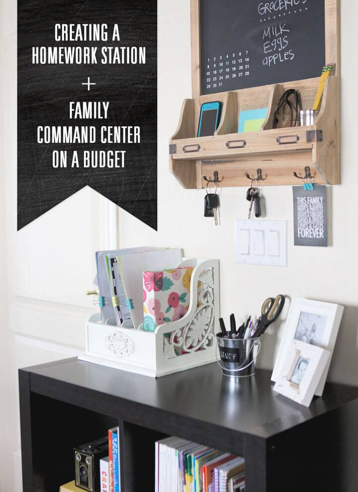 Budget Friendly DIY Family Command Center