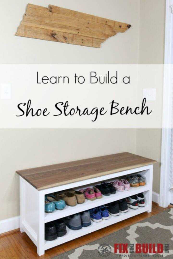 Build a Entryway Shoe Storage Bench