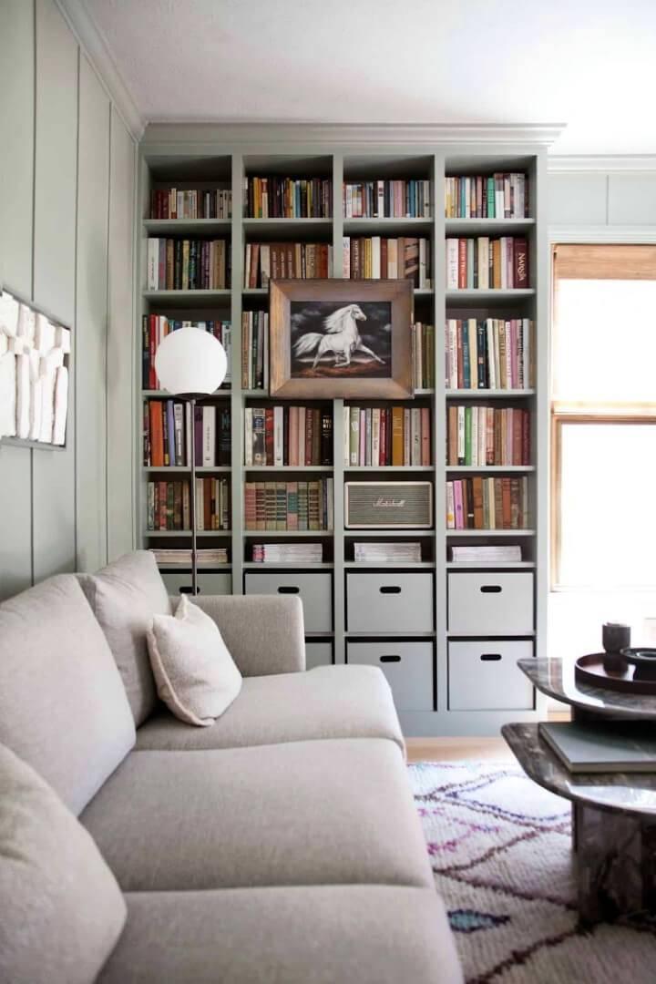 Built in Ikea Billy Bookcase Hack