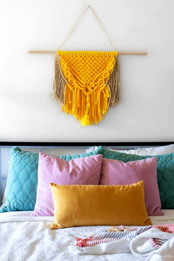 Colorful DIY Macrame Wall Hanging Perfect for Beginners