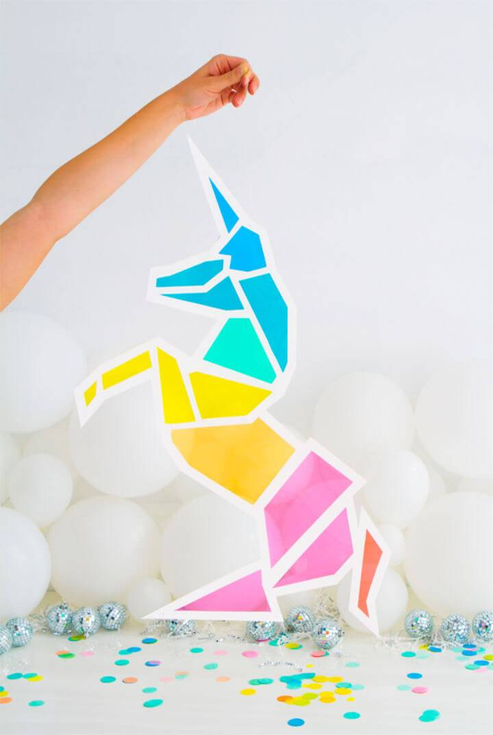Colorful DIY Stained Glass Unicorn