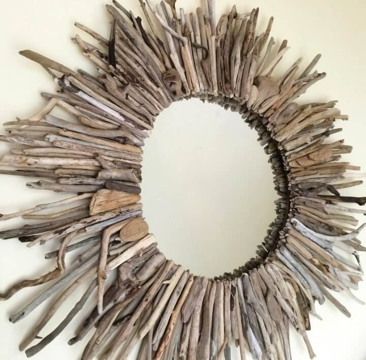 Create Driftwood Starburst Mirror