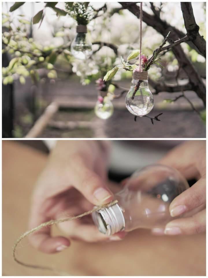 Create Your Own Hanging Lightbulb Vase