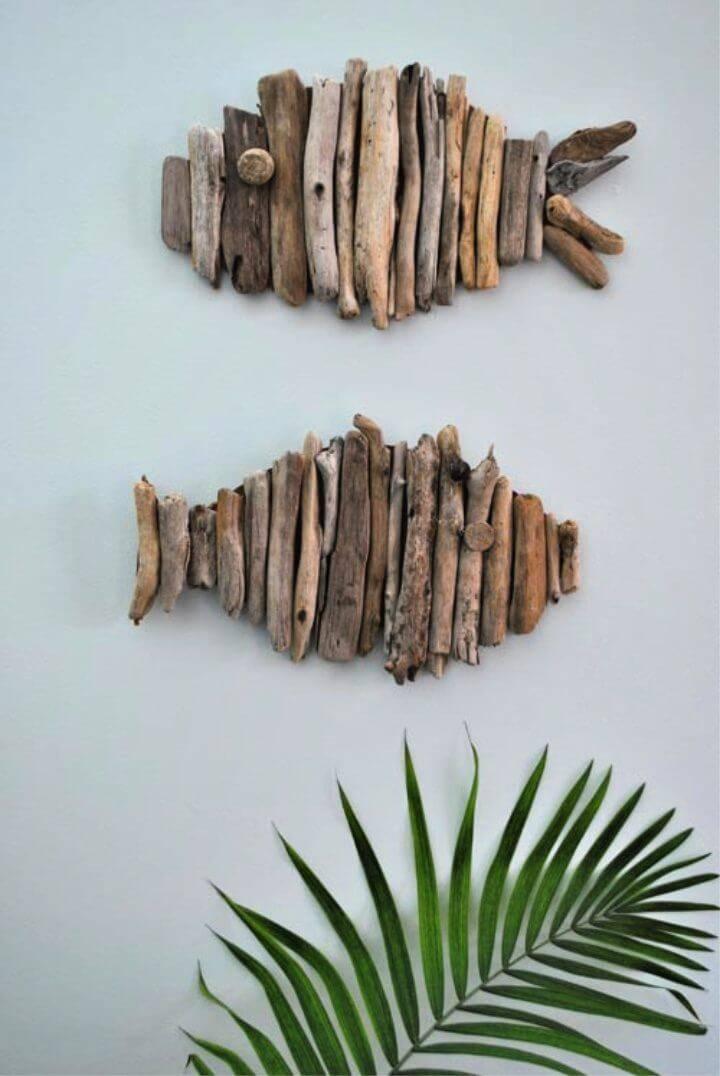 DIY 15 Minutes Driftwood Fish