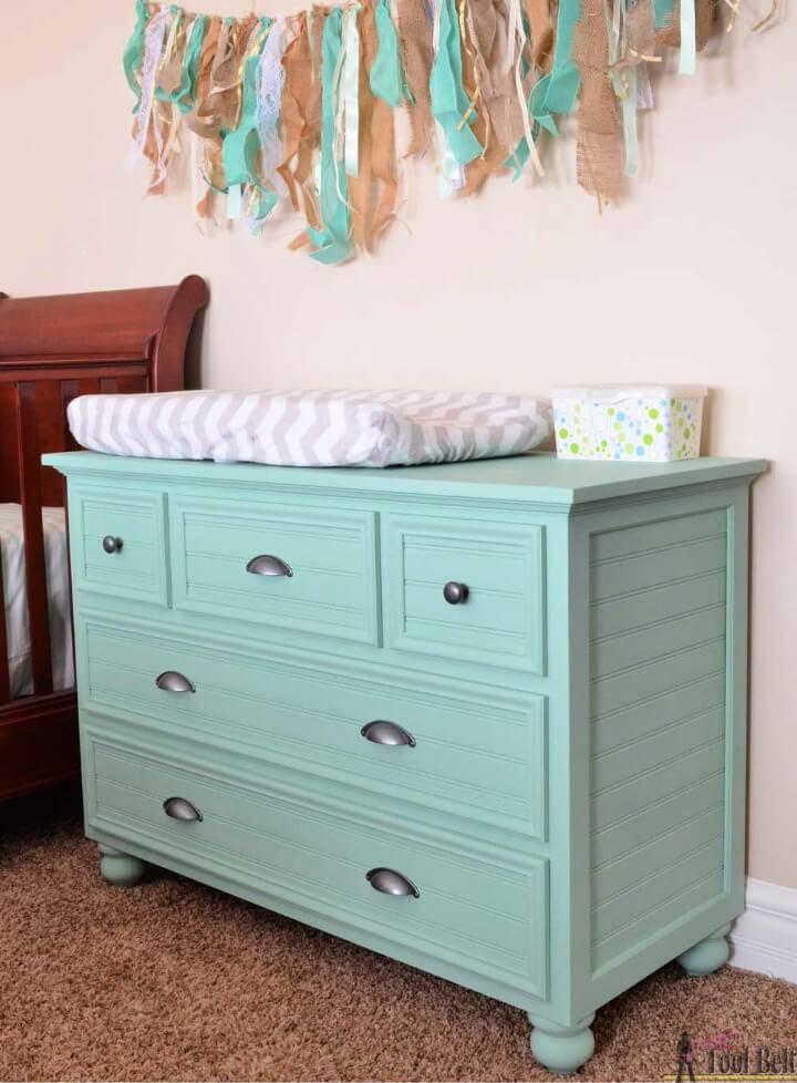 DIY 5 Drawer Dresser Changing Table