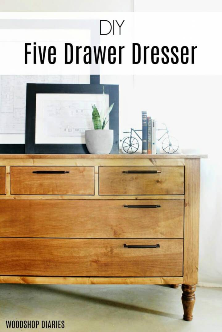 DIY 5 Drawers Dresser