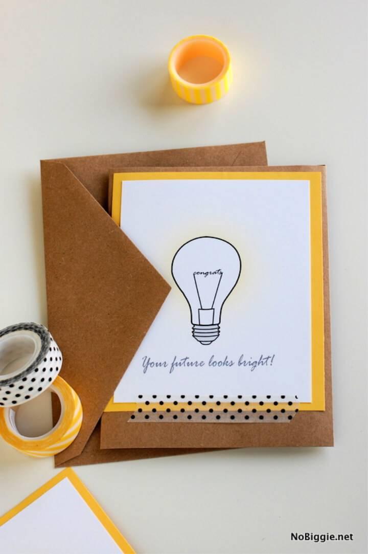 10 Diy Graduation Card Ideas Free Templates Printables Diy Crafts