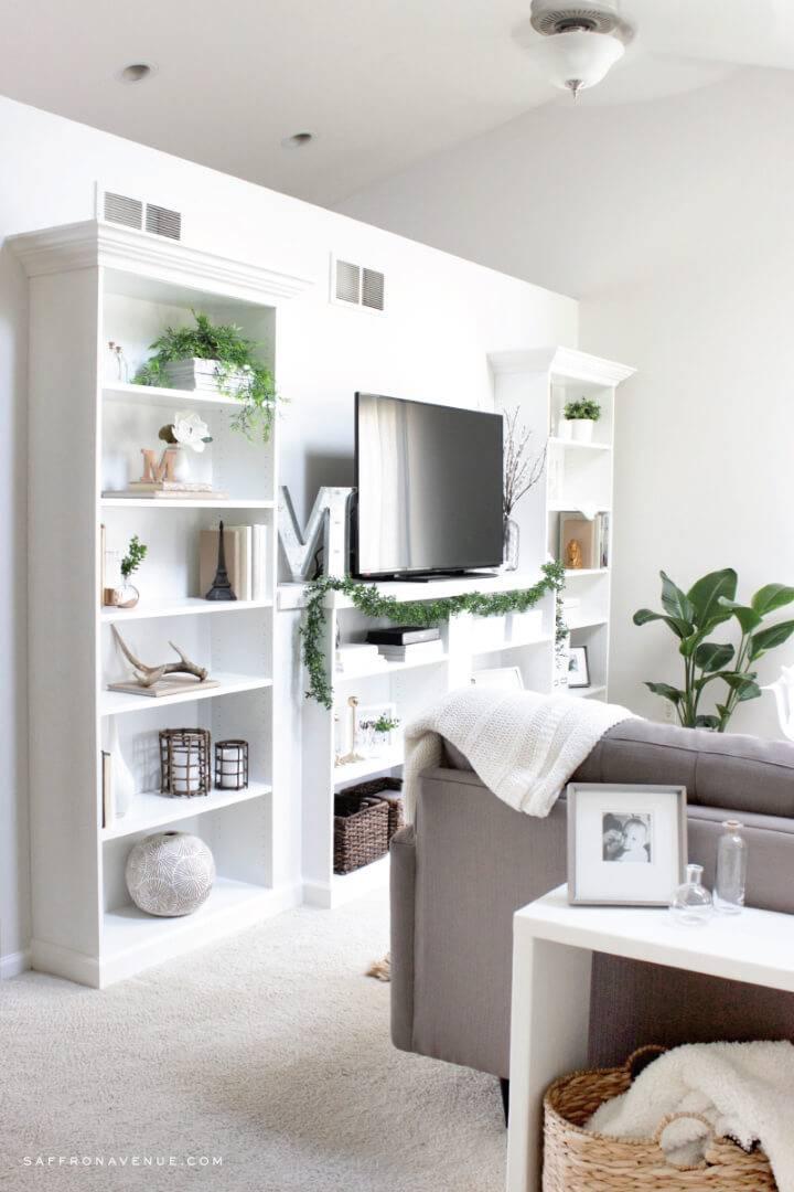 DIY Built In Bookcase Ikea Hack