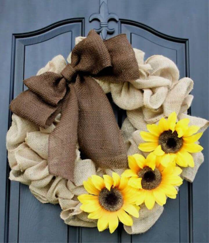 DIY Burlap Wreath for Beginners