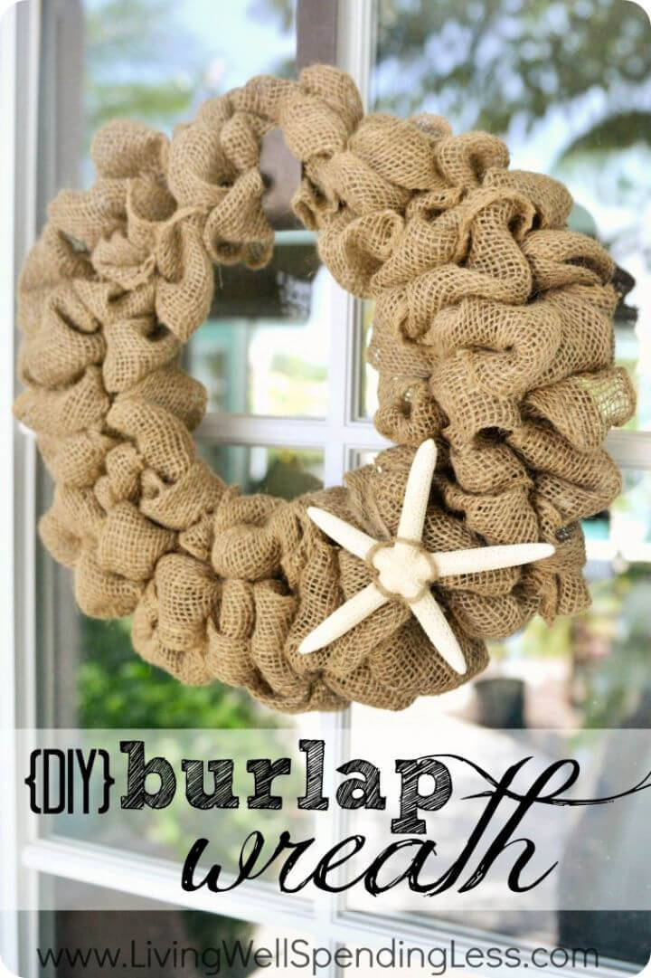 DIY Burlap Wreath for Front Door