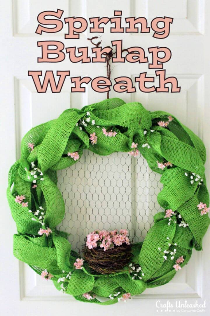 DIY Burlap Wreath for Spring