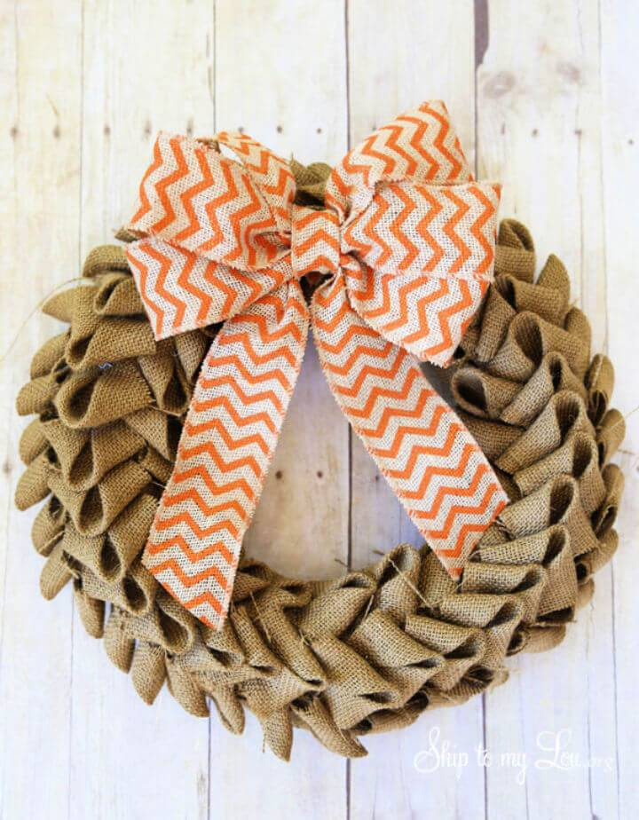 DIY Burlap Wreaths for Your Home