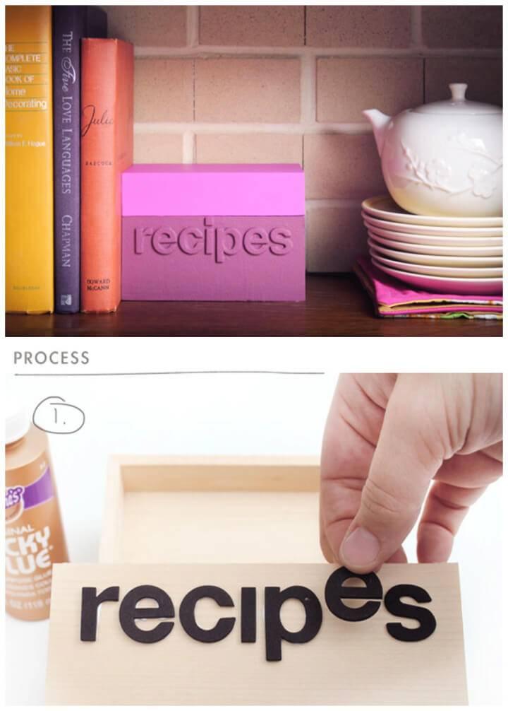 DIY Color block Recipe Box