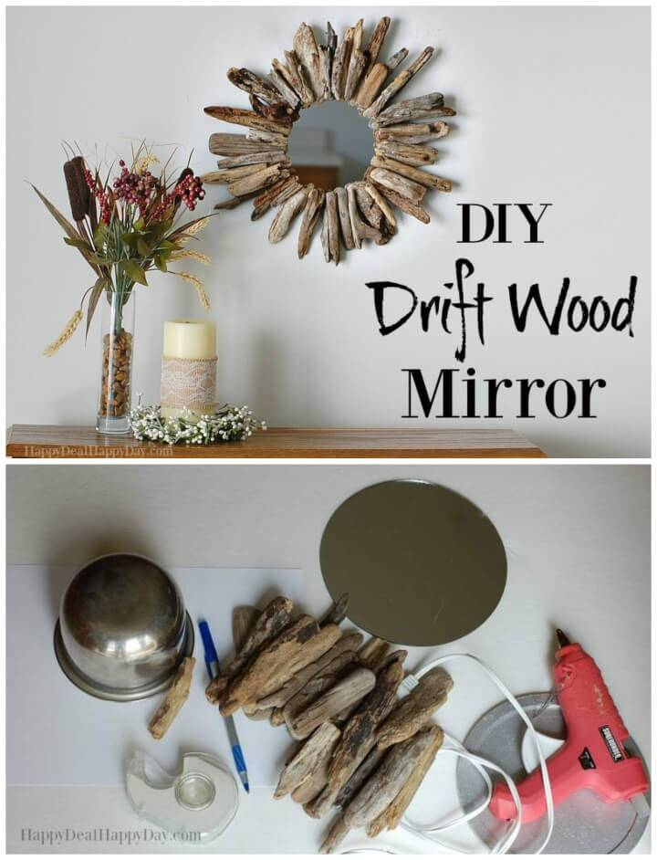 DIY Drift Wood Mirrors Driftwood Crafts