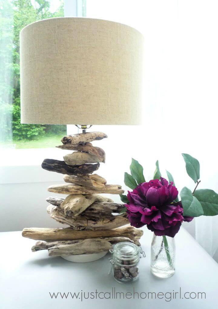 DIY Driftwood Desk Lamp