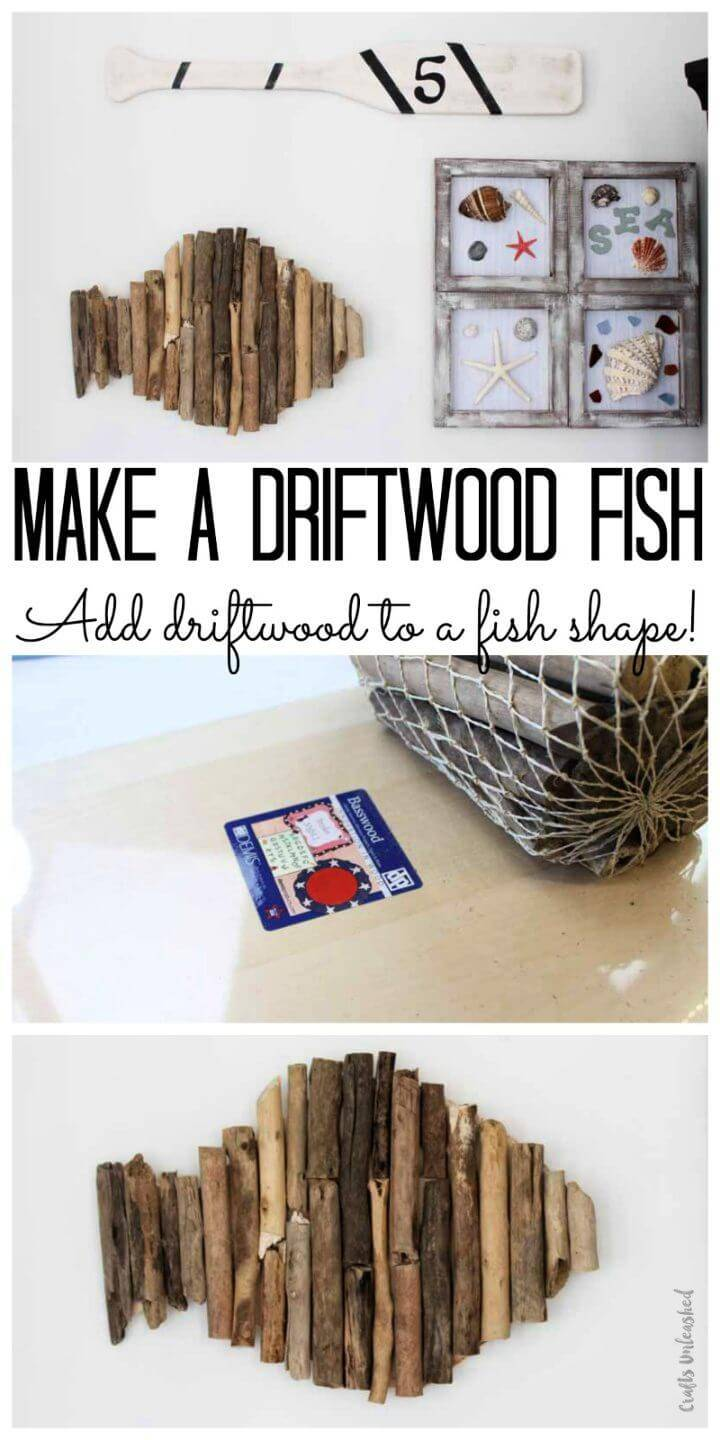 DIY Driftwood Fish Nautical Themed Decor