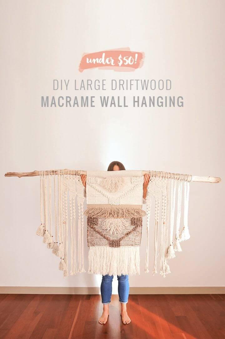 DIY Driftwood Macrame Wall Hanging