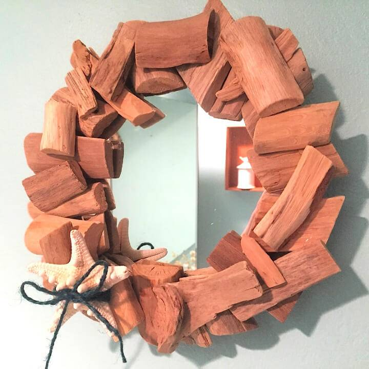 DIY Driftwood Mirror for Less Than 10