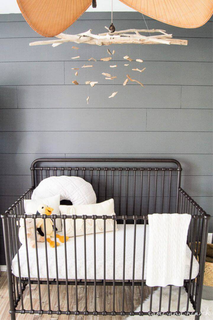 DIY Driftwood Mobile for a Coastal Nursery