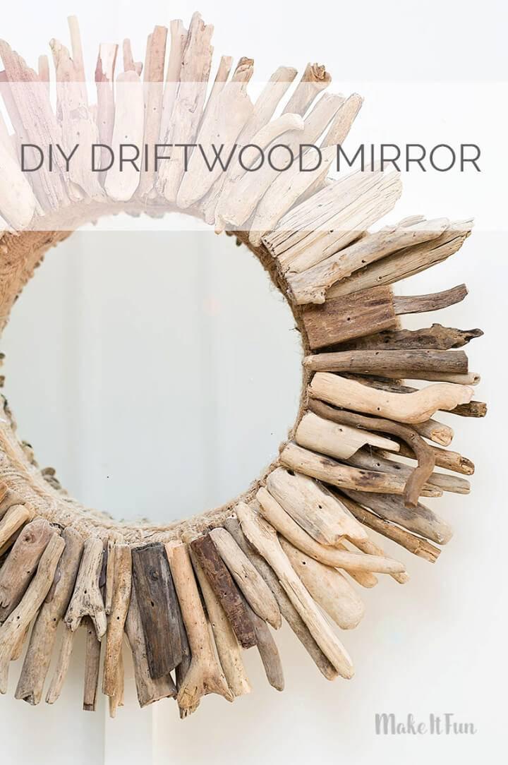 DIY Driftwood Round Mirror