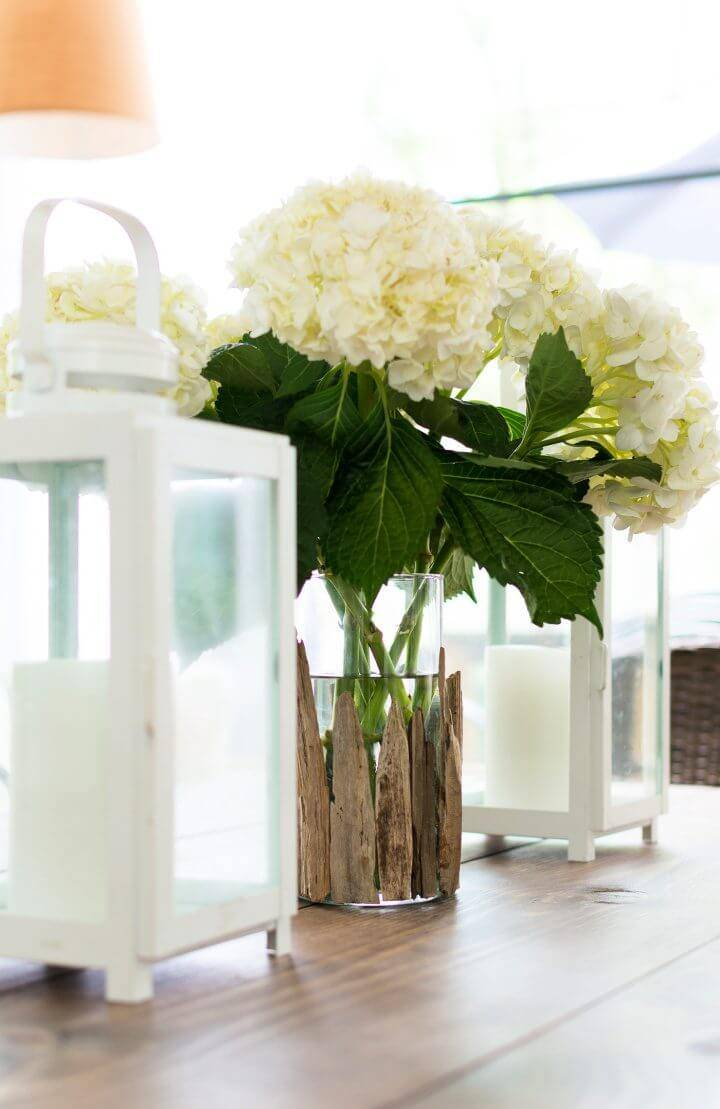DIY Driftwood Vase Wedddding Centerpiece