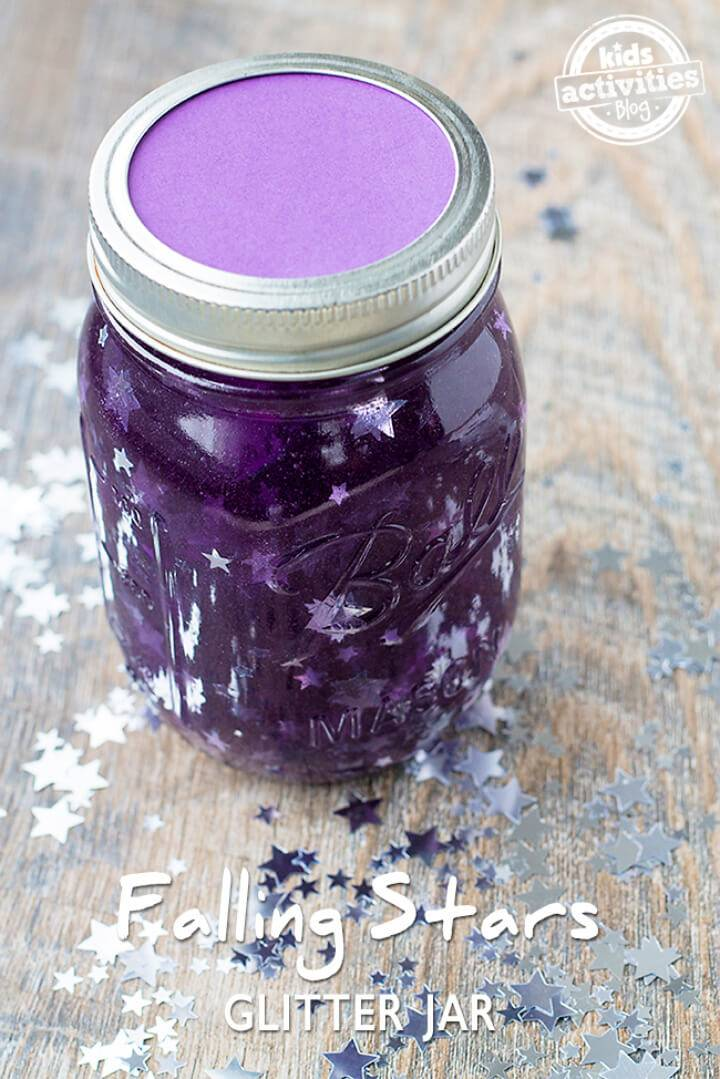 DIY Falling Stars Glitter Jar