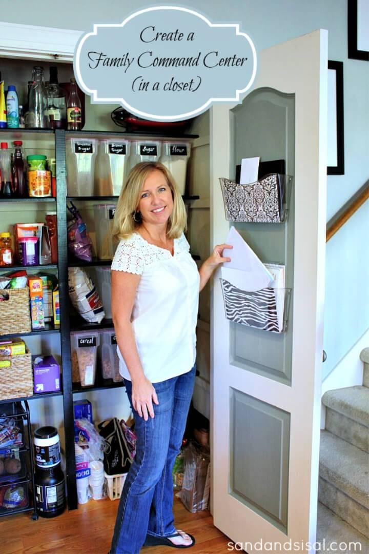 DIY Family Command Center in a Closet