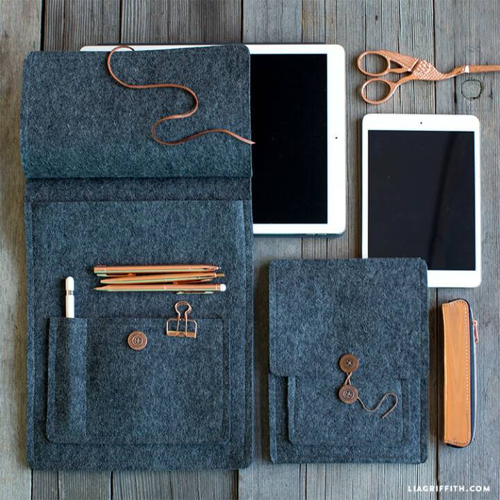 DIY Felt Tablet Cover