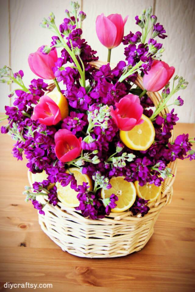 DIY Flower Basket for Mothers Day Gift