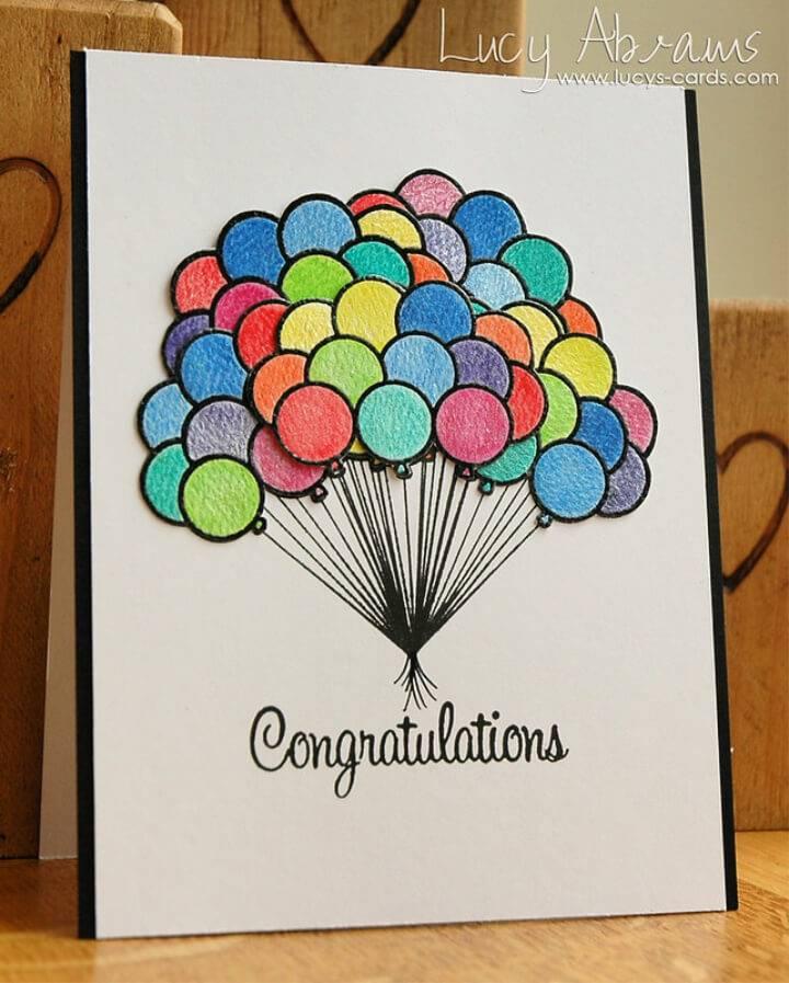 DIY Graduation Watercolour Graduation Card