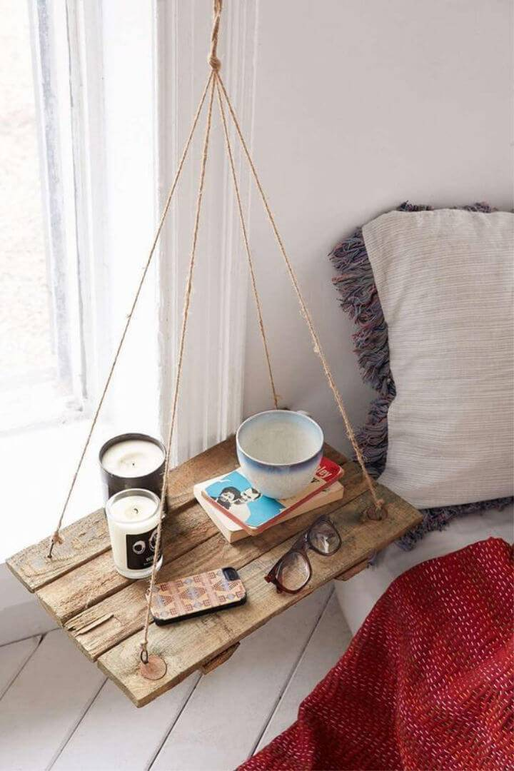 DIY Hanging Side Table