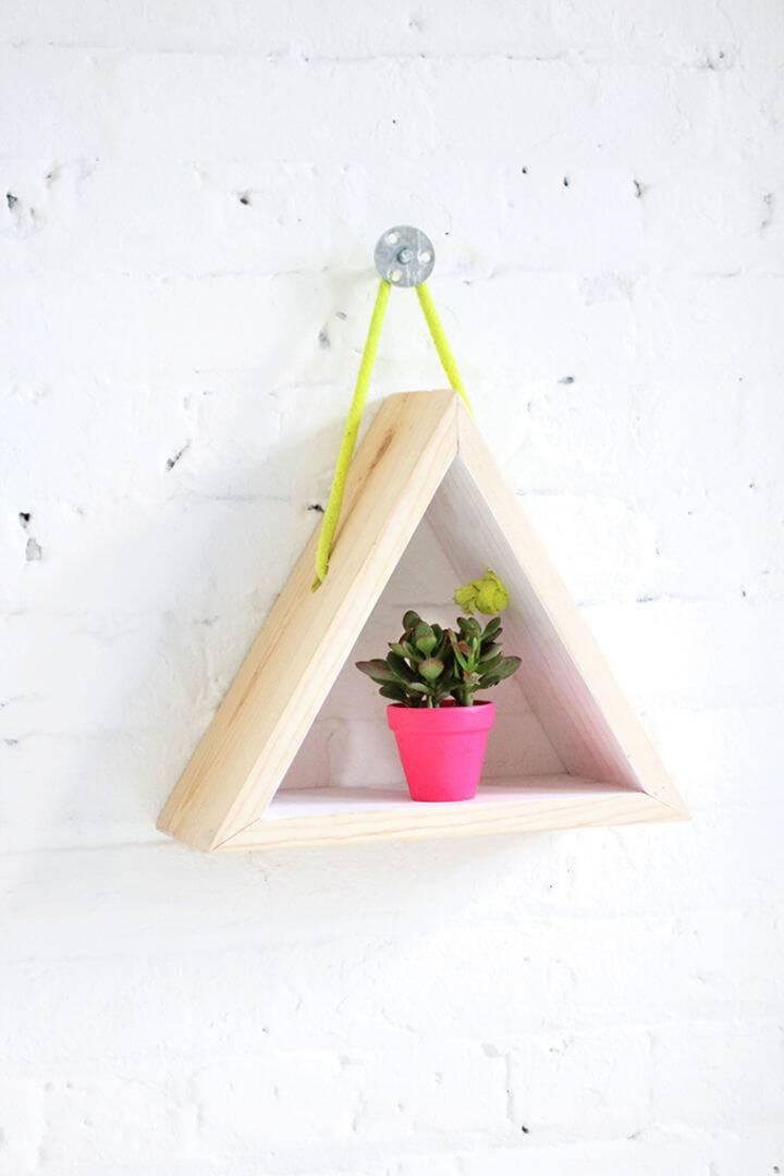 DIY Hanging Triangle Shelf