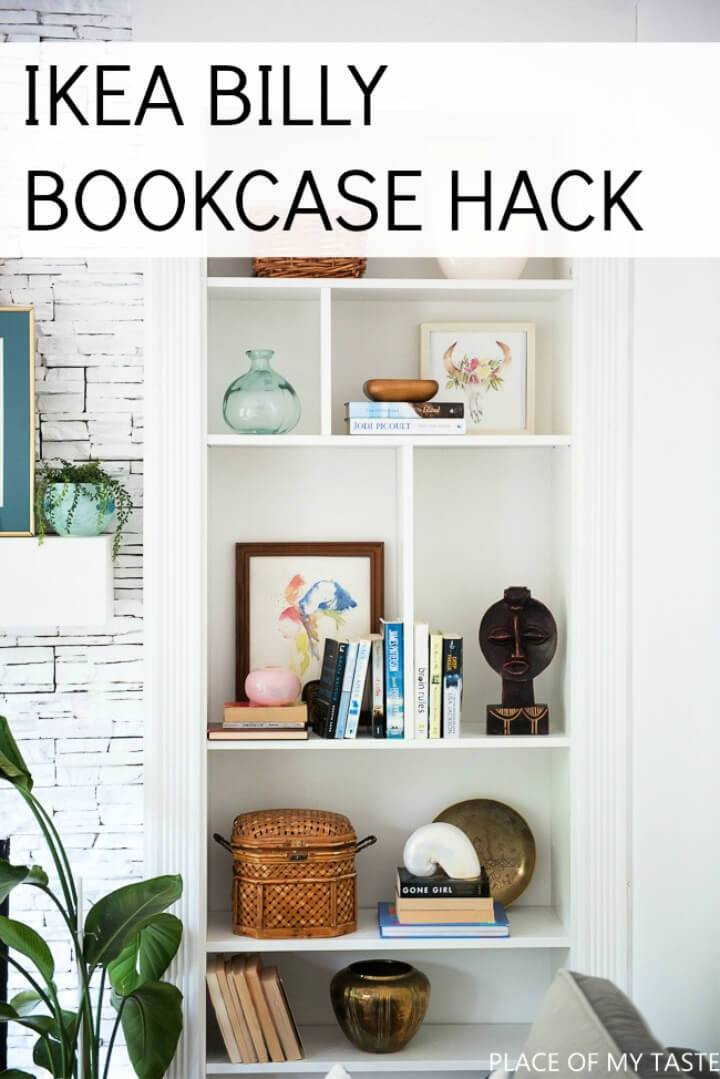 DIY Ikea Billy Bookcase Built ins