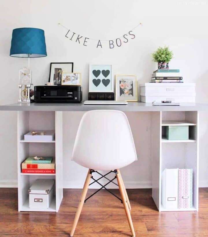 DIY Ikea Hack Desk Under 60