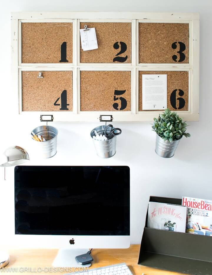 DIY Industrial Bulletin Board