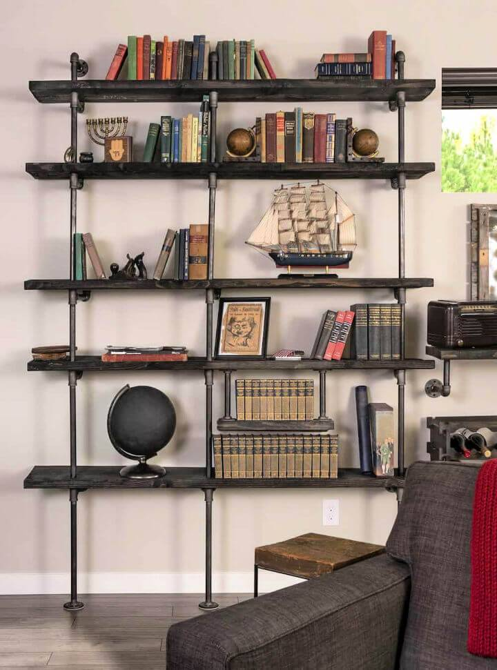 Black Pipe Shelves On a Reasonable Budget
