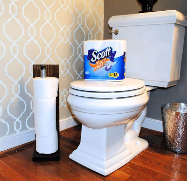 DIY Industrial Pipe Toilet Paper Holder