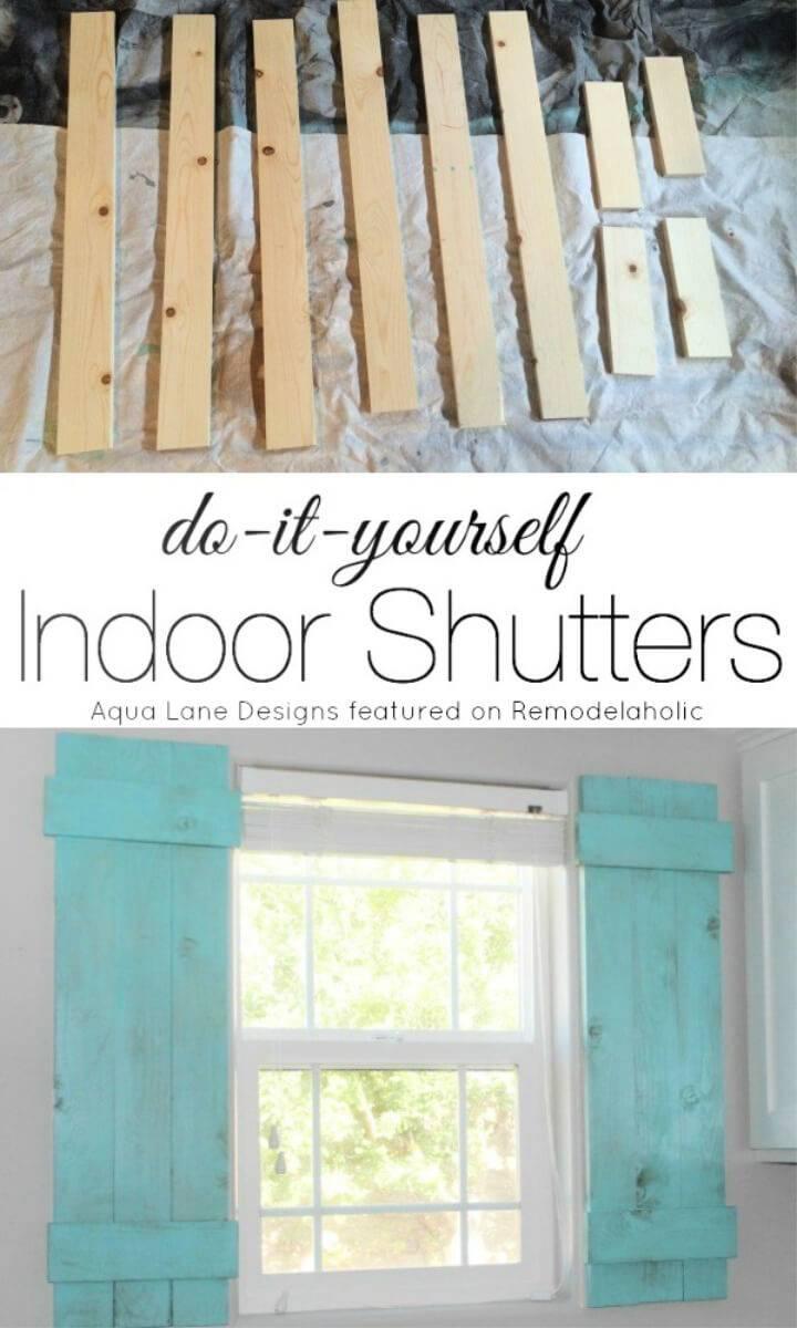 DIY Interior Window Shutters for Under 20