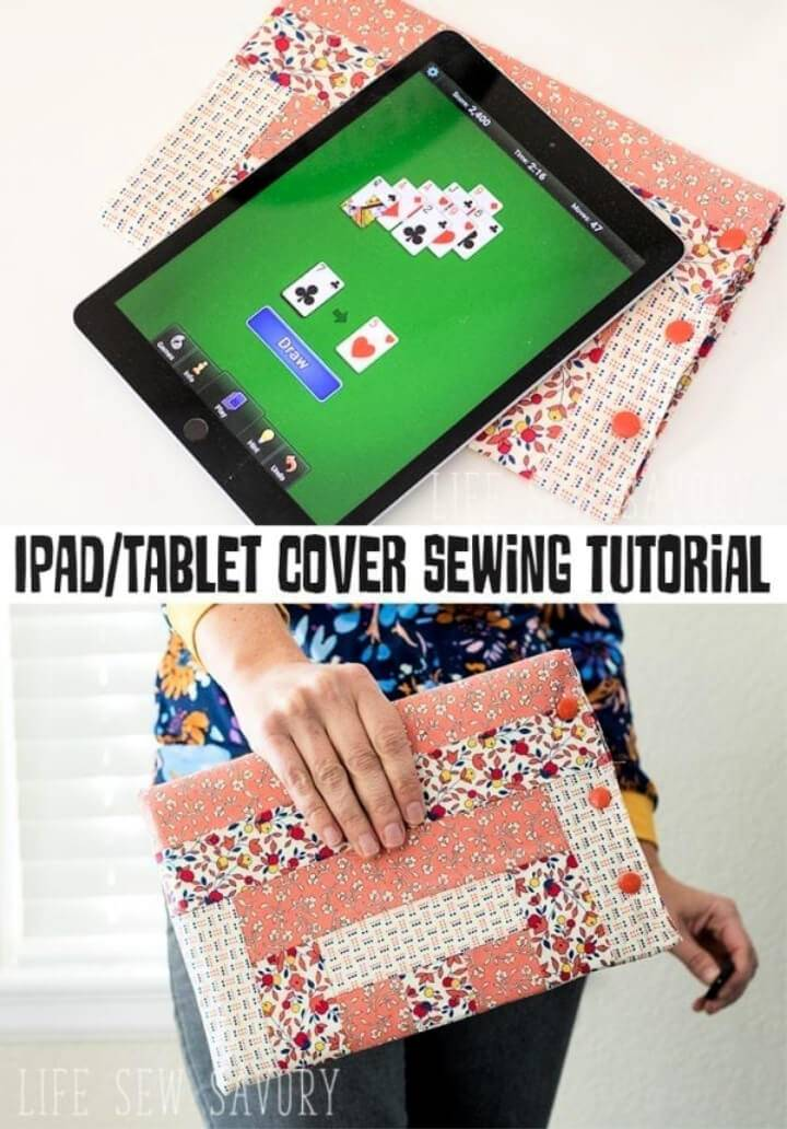 DIY Ipad Case Free Sewing Pattern