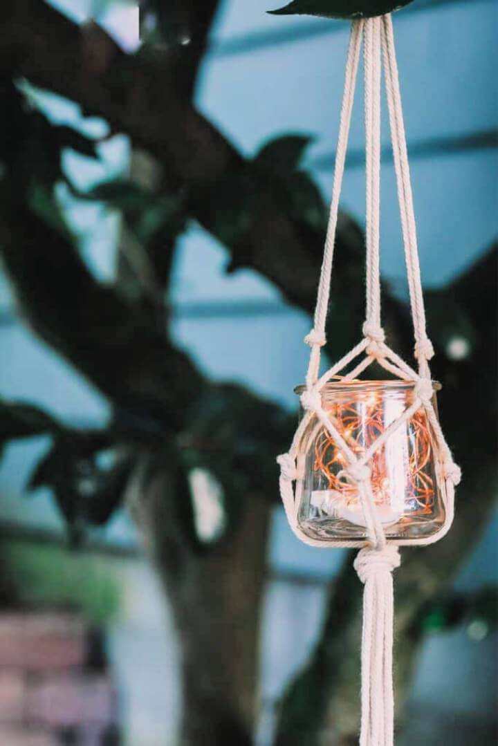 DIY Macrame Jar Hanger Tutorial