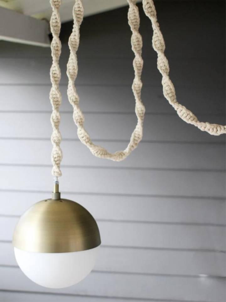 DIY Macrame Light Cord