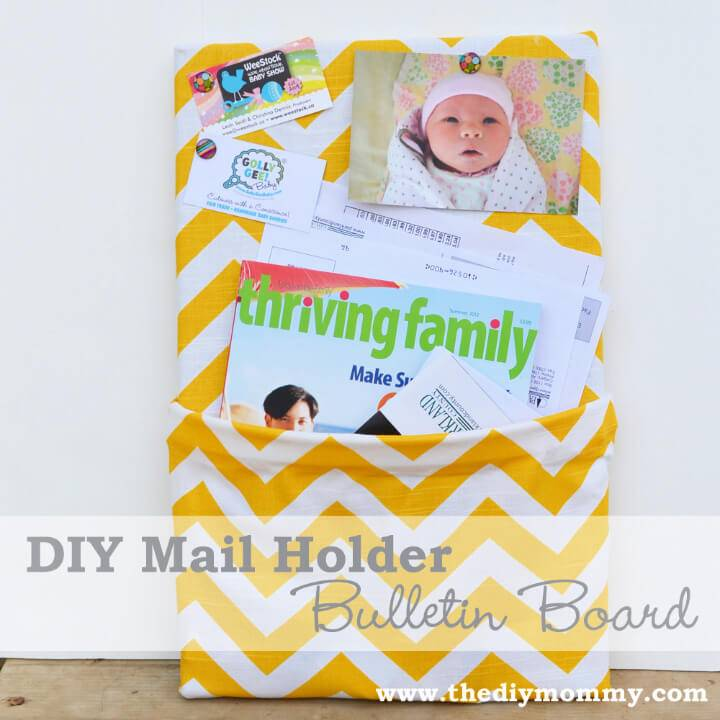 DIY Mail Holder Bulletin Board