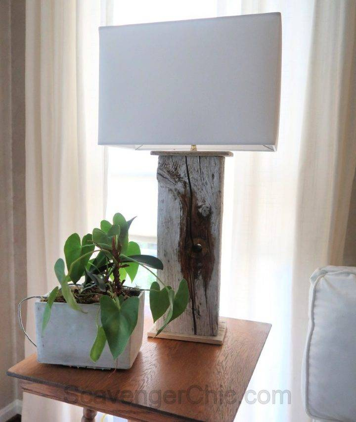 DIY Maine Driftwood Lamp