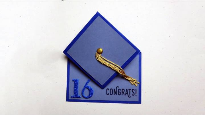 DIY Mortarboard Graduation Cap Card