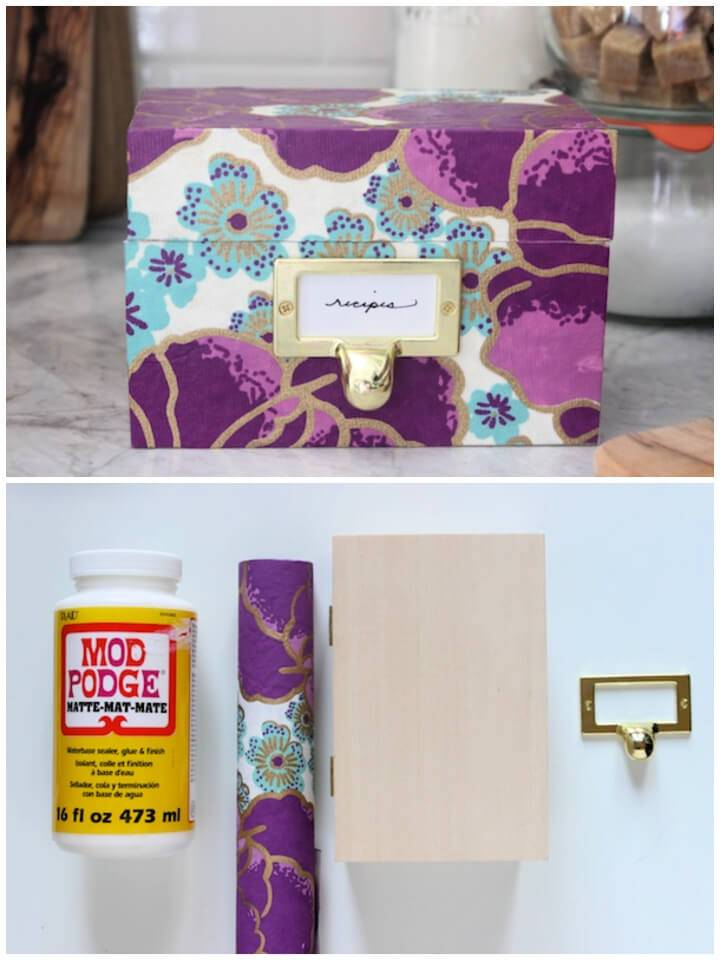 DIY Mother's Day Recipe Box