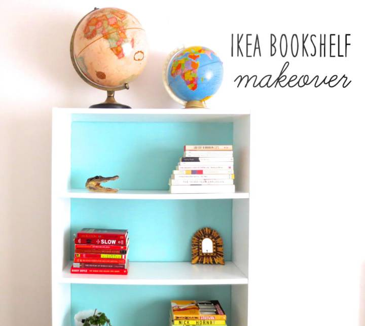 DIY Painted Billy Bookcase
