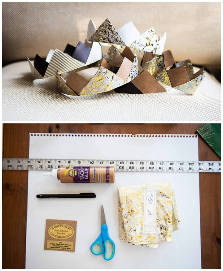 DIY Paper Crowns from Upcycled Wrapping Paper
