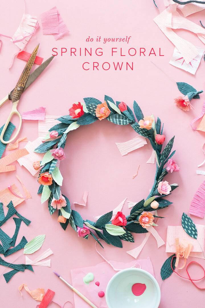 DIY Paper Spring Floral Crown