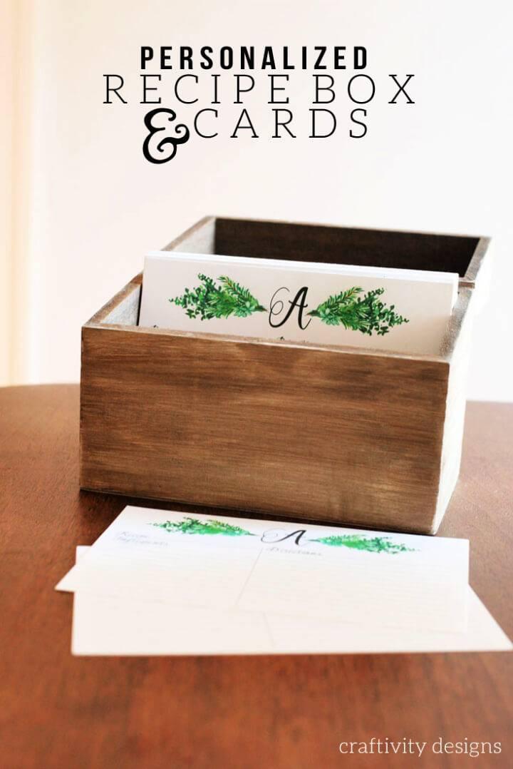 DIY Personalized Recipe Box Recipe Cards