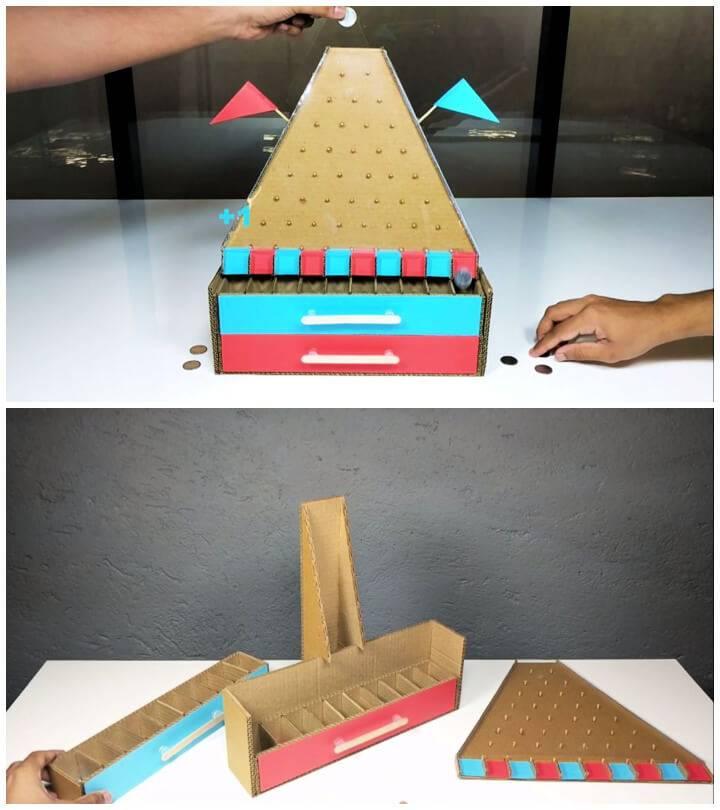 DIY Plinko Board Game from Cardboard